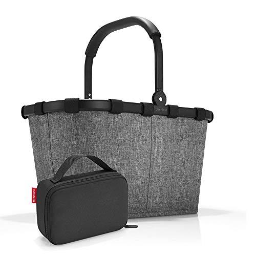 Exclusiv-Set: carrybag BK, thermocase OY, SBKOY Einkaufskorb mit Kleiner Kühltasche, Twist Silver + Black (70527003)