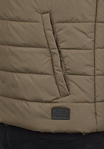 BLEND Nilo Herren Steppweste Weste mit Kapuze aus hochwertiger Materialqualität Mocca Brown (71508)