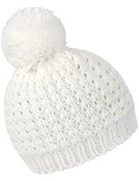 Result Damen Winter Strickmütze / Mütze mit Bommel, Grobstrick