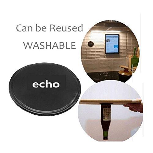 Preisvergleich Produktbild Hochwertiges Fixate-Zellkissen von ECHO [4 PACK], Sticky Anti-Rutsch GEL Pads - kann an Glas, Spiegel, Whiteboards, Metall, Küche Schränke oder Fliesen, Auto GPS und vieles mehr