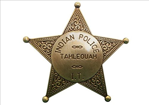 Policía Denix pilaou estrella messingf. Estrella de Sheriff Cowboy Western