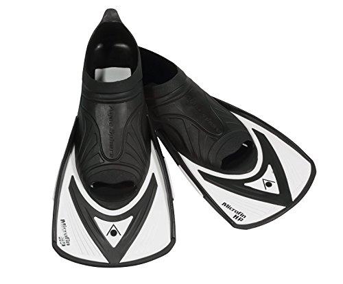 Aqua Sphere Microfin HP Schwimmen Training Flossen, Schwarz/Weiß, 32/33