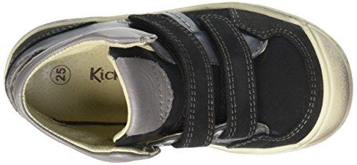 Kickers Igor, Baskets Basses Garçon Noir (Noir/Blanc)