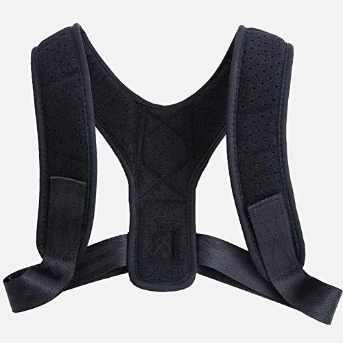 shape Back Posture Corrector Rückenkorrekturgürtel Atmungsaktiver Anti-Buckel mit Clavicle Einstellbarer Sitzkorrekturgurt Schwarz -