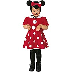 (Taglia 2-3anni) Costume Da Topolina Per Bambini Topine Travestimento Carnevale Halloween Idea Regalo Bambina