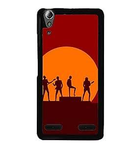 ifasho Designer Back Case Cover for Lenovo A6000 :: Lenovo A6000 Plus :: Lenovo A6000+ (Band Calcutta India Music 3D)