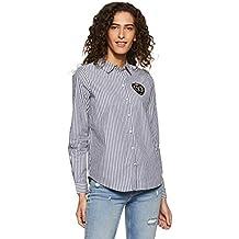 Vero Moda Vmleah Badge LS Shirt, Blusa para Mujer