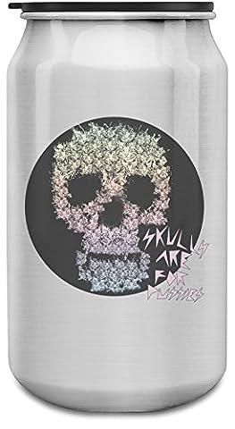 Skulls Are For Pussies 350ml Bouteille de canettes d'aluminium