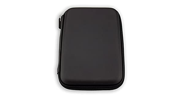 GPS-Case with Zipper and Elastic Band in Black caseroxx GPS-Case for Garmin Camper 760 LMT-D,
