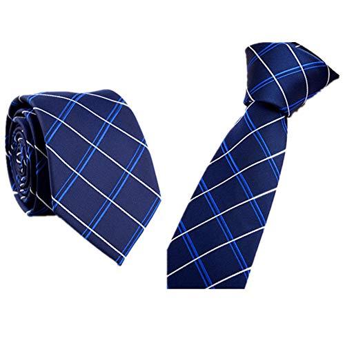 Xmiral Trendy Business Krawatte Beiläufiger dünner Plain Herren Striped dünner Hals(C)