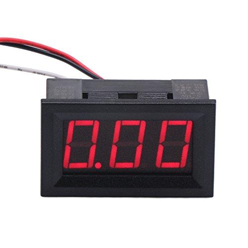 DROK Mini DC 0,00-9,99 V Voltmetro LED rosso display digitale per controllo batteria rilevatore di tensione pannello di misuratore di tensione