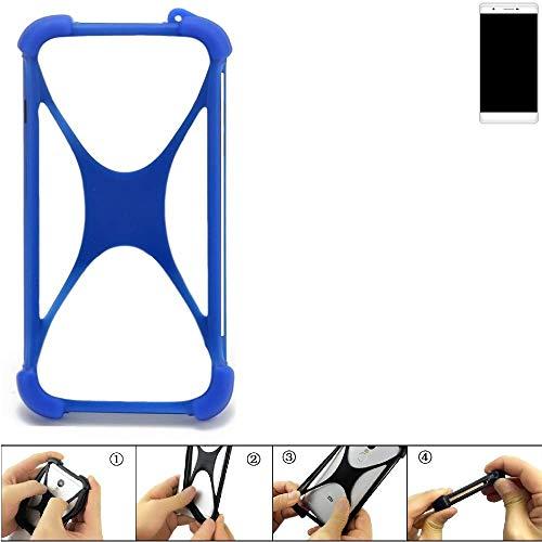 K-S-Trade Handyhülle Phicomm Passion 2S Silikon Schutz Hülle Cover Case Bumper Silikoncase TPU Softcase Schutzhülle Smartphone Stoßschutz, blau (1x)