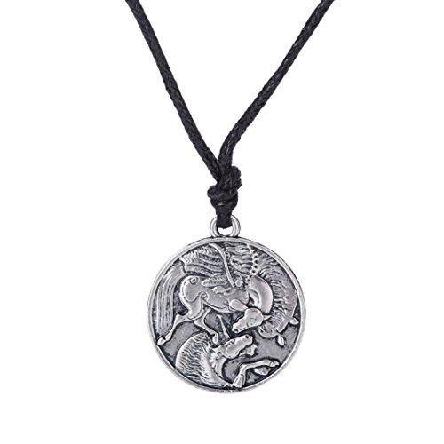 Vintage Amuleto Pegasus y unicornio gótico colgante collares para hombres y mujeres