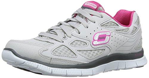 Skechers Flex AppealAlign Damen Sneakers Grau (Light Grey/Hot Pink)