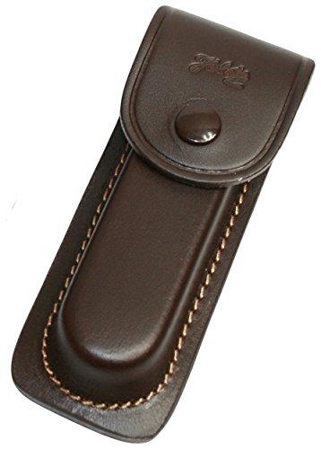 jowiha Leder Etui braun mit Naht in 3 Größen 9 11 13 cm Gürtelschlaufe (13 Zentimeter)