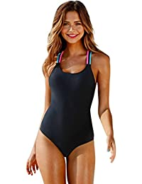 QinMM Bañador de Mujer Multicolor Bikini ropa de baño de una pieza