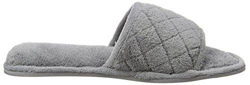 Dearfoams - Slide, Pantofole Donna Grey (Medium Grey)