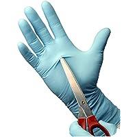 EinweghandschuheGroßes Paket 200 Stück - Safe Fit Blau Nitrilhandschuhe M (7-8) Pulverfrei AQL 1,5