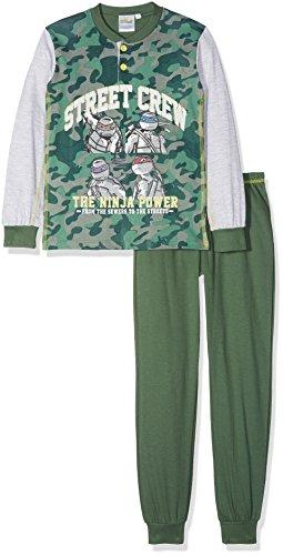 Teenage mutant tn16029-58, pigiama bambino, verde (militare), 104 (taglia produttore:4 anni)