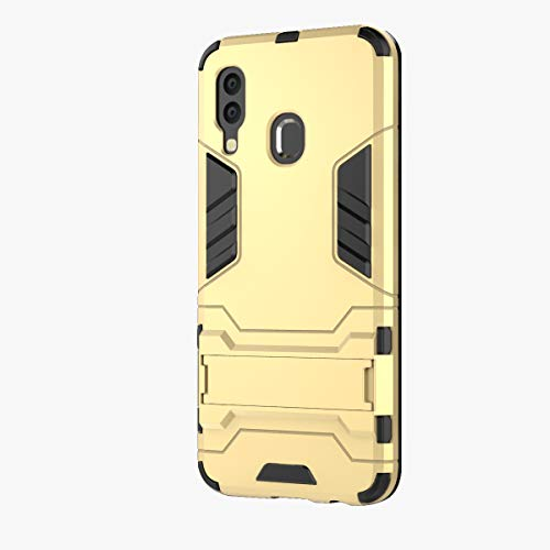 3Ciker Hülle Kompatibel mit Samsung Galaxy A40, 2 in 1 TPU+PC Dual Layer Hybrid 360 Grad Fall SchutzHülle Doppelschutz Stoßfest Kickstand Hard case Drop Resistance Test Bumper (6)
