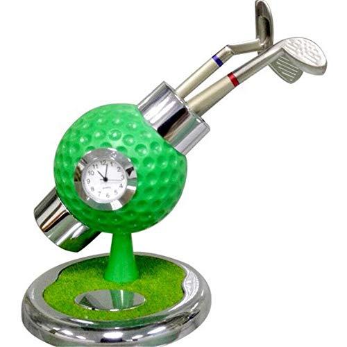 Funktionelle Golfübungsgeräte Halter Schreibtisch Golfball Stifthalter Ständer Mit 3 Golfstiften Golf Souvenirs Einzigartige Geschenke Für Golfer Fans Mit Uhr Golf Stift ( Farbe : C2 , Größe : Free ) - Uhr Stift Halter
