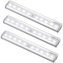 Sensor luz del armario, LDOPTO LED luz del armario,bajo el armario,funciona