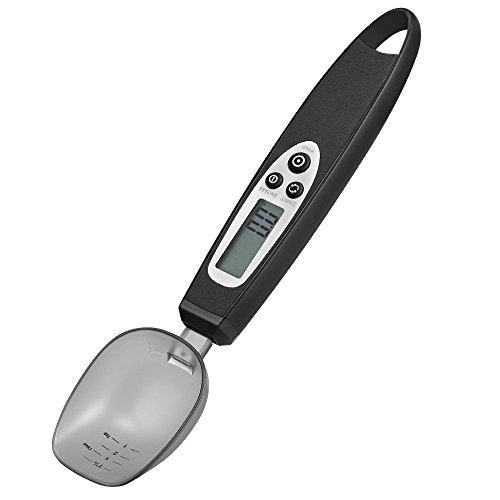 Jerrybox Digitale Einstellbare Löffelwaage Elektronische Küchenmesslöffel Mit Großem Lcd-Display Mit Küchenwaage Abnehmbare Große Löffel, Von 0,5G Bis 300G Für Kaffee,