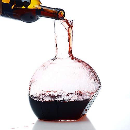 Carafe à décanter, Decanteur a vin, Carafe a Decanter vin, Forme spéciale en Verre Cristal sans Plomb, Convient aux Outils de Bar, Accessoires de Cuisine - 2500ML