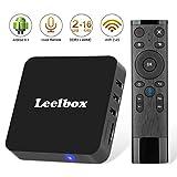 TV Box Android 8.1 - Leelbox Smart TV Box con Telecomando Vocale, 2GB RAM & 16GB ROM, 4K*2K UHD H.265, HDMI, USB*2, WiFi Media Player, Android Set-Top Box … (8.1)