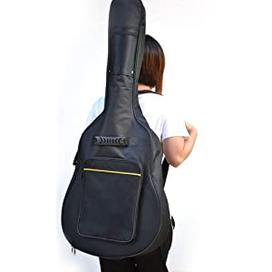 TRIXES Protective Full Size Acoustic & Classical Guitar Waterproof Padded Case Gig Bag