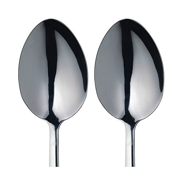 MasterClass Stainless Steel Serving Spoons, Silver, 2-Piece 3