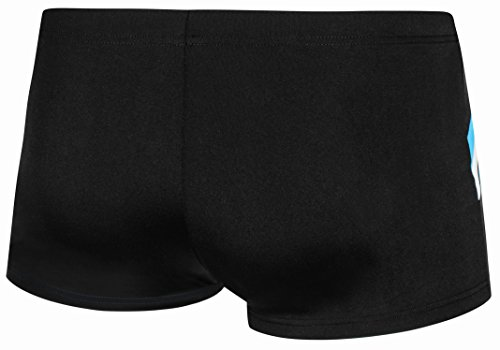 AQUA-SPEED® Herren Badehose | Schwimmhose | S-XXXL | Modern | Perfect Fit | UV-Schutz | Chlor resistent | Kordelzug 17. Black - Blue - White