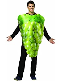 Green Grapes Adults Fancy Dress Food Fruit Mens Ladies Unisex Costume Outfit