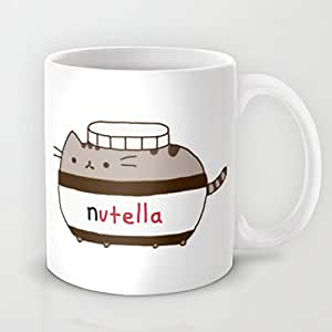nutella katze kaffee oder tee cup keramik becher mit druck. Black Bedroom Furniture Sets. Home Design Ideas