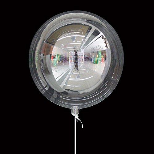 gaeruite 10 pcs ronde Bubble Ballon Fond de transparente Décoration Ballon Helium Transparent Ballon en mousse pour fête d'anniversaire fête de mariage sans Rides, PVC, As Show, B:18 inches