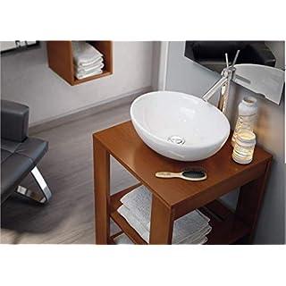 Art-of-Baan® - Design Waschbecken, Waschschale Aufsatz hochglanz 410 * 330 * 145 mm reinweiß, (Oval)