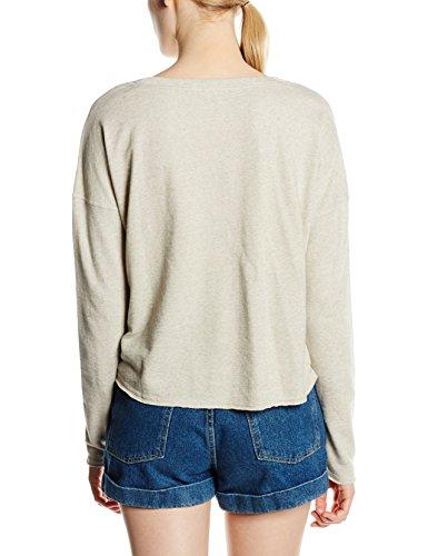 ONLY Damen Sweatshirt Onlflorence L/S Plain Cropped Swt Elfenbein (Oatmeal)