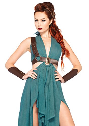 LEG AVENUE 85036 - Krieger Maiden Kostüm, Größe M, grün