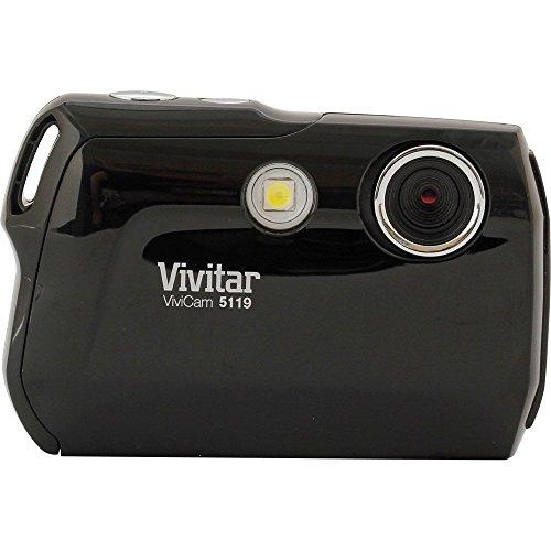 Vivitar V5119 Digital Kamera (5 Megapixel, CMOS Sensor, 4-fach dig. Zoom, 4,5 cm (1,8 Zoll) Display) schwarz