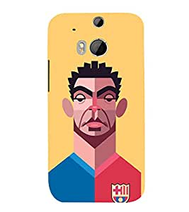 PrintVisa Americal Football Player 3D Hard Polycarbonate Designer Back Case Cover for HTC One M8 :: HTC M8 :: HTC One M8 Eye :: HTC One M8 Dual Sim :: HTC One M8s