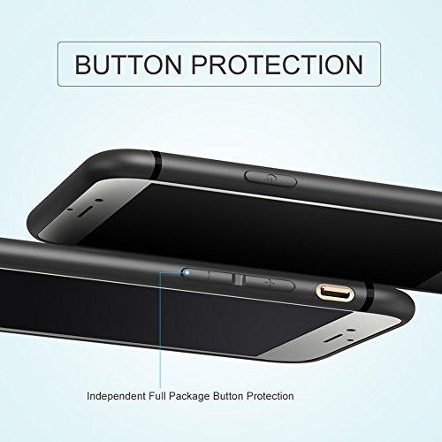 Ultra Dünn [ Passt Perfekt ]Feder Leicht Soft Flex Silikon Hülle Für Apple iPhone Bumper Cover Schutz Tasche Schale 6/6s Grau Dunkelblau