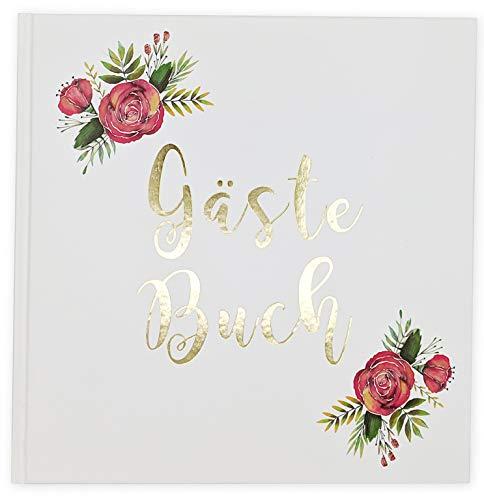 Sophies Kartenwelt Gästebuch Hochzeit - Goldfoliengeprägtes Hardcover / 144 weiße Seiten/Format: 21 x 21 cm/Hochzeitsgästebuch/Hochzeitsalbum/Hochzeitsgeschenk (Hardcover-gebrauchte Bücher)
