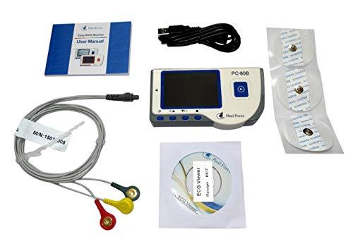 HNCS-80 Tragbares EKG-Gerät Herzfrequenz-Messgerät Datenrekorder, EKG Monitor, tragbar, mit Software und USB-Kabel