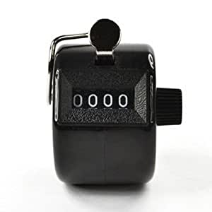 Digital Chrome Hand held Tally Clicker Counter 4 Digit Number Clicker Golf ,Black