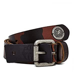 """Royal Enfield BEA140014 Leather AW14 Belts Camouflage (Brown, Small, 30""""-34"""")"""