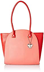 Butterflies Women's Handbag (Dark Peach) (BNS 0580DPCH)