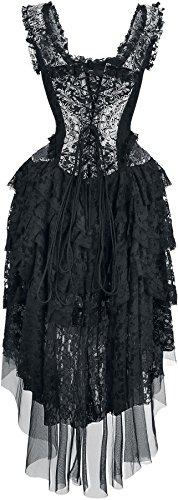 Burleska Ophelie Dress Abito lungo nero/argento M