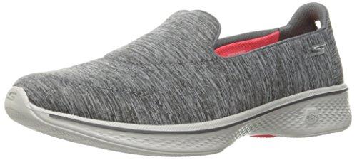 Skechers Damen Slipper Go Walk 4 ACHIEVER Grau, Schuhgröße:EUR 40.5