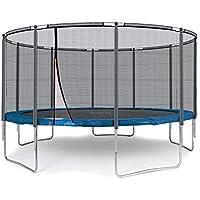 Ampel 24 Outdoor Trampolin 430 cm blau komplett mit außenliegendem Netz, Belastbarkeit 160 kg, Sicherheitsnetz mit 10 Gepolsterten Stangen und Stabilitätsring - preisvergleich