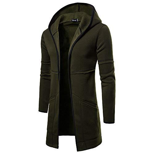 (FRAUIT Herren Winterjacke Zipper warm Männer Wollmantel Cabanjacke Langemantel Winter Jacke Mode Wunderschön Super Qualität Streetwear Kapuzenjacke Sweatjacke Kleidung Top Parka Wollmantel)